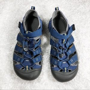 Keen Blue Velcro Sport Sandals Size 5 (Youth)